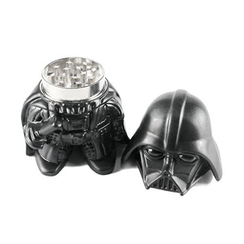 Todesstern Darth Vader Herb Grinder Harz Oberfläche Zincy Alloy Tobacco Grinder 3 Stück