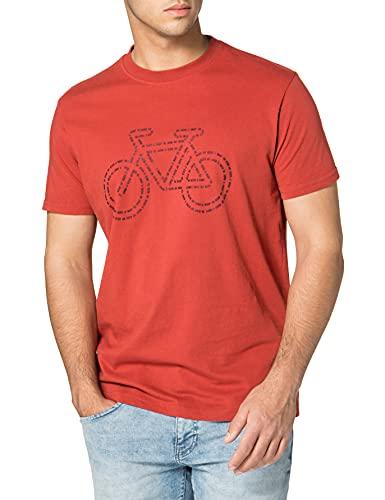 Springfield Camiseta Regular Bici Reconsider, Naranja, XS para Hombre