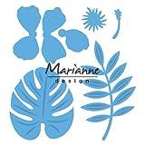 Marianne Design Creatables Fustelle Ibiscus e Foglie Tropicali, Metal, Blue, 16x12x3 cm
