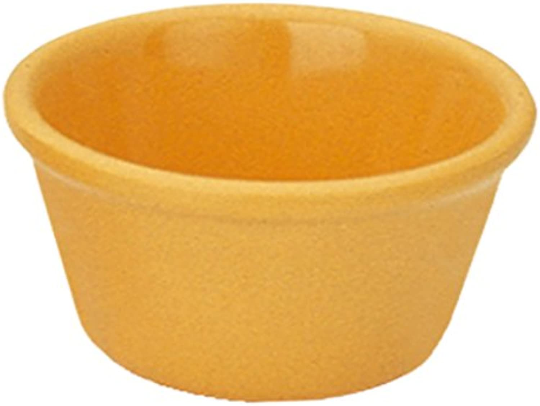 Yanco NC-536YW Smooth Ramekin, 2 oz Capacity, 1.25  Height, 2.75  Diameter, Melamine, Yellow color, Pack of 72