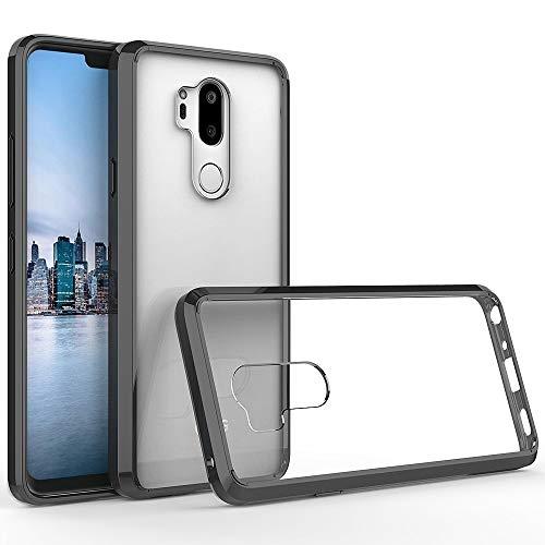 Xyamzhnn Estuches para teléfonos para LG G7 Thinq a Prueba de Golpes a Prueba de Golpes TPU + Cáscara Protectora de acrílico (Color : Black)