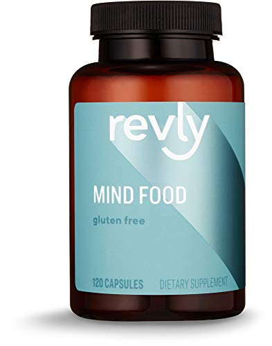 Amazon Brand - Revly Mind Food, Contains B Vitamins, Ginko Biloba, Asian Ginseng and Gotu Kola extract, 120 Capsules, 1 to 4 Month Supply