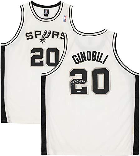 Manu Ginobili San Antonio Spurs Autographed White Adidas Jersey - JSA - Autographed NBA Jerseys