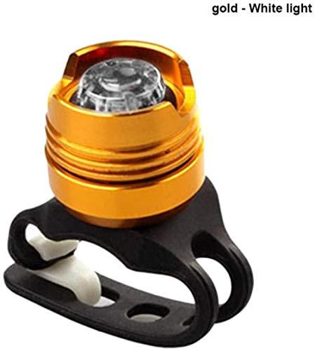 Bike LED Linterna de aluminio Casco de ciclismo Lámpara delantera de bicicleta Luz trasera Cola trasera Accesorios de bicicleta Luz de bicicleta Reflector de bicicleta-Luz blanca de concha amarilla
