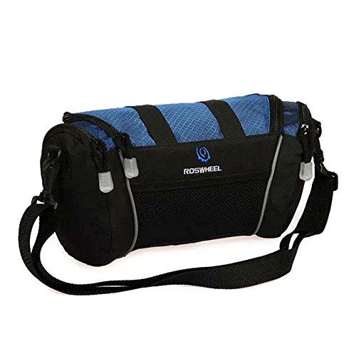MOON 600D Polyester Lenkertasche Fahrradtasche Oberrohrtasche Umhängetasche Schultertasche Front Bag für Radfahren Reise Camping