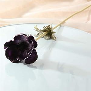 TRRT Fake Plants Artificial Anemone Grass Rose Silk Artificial Flower, for Wedding Decoration Plant Wall Garden Home Decor Fake Flower (Color : Purple)