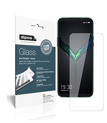 dipos I 2X Panzerfolie klar kompatibel mit Xiaomi Black Shark 2 Schutzfolie 9H Bildschirmschutz-Folie (bewusst Kleiner als das Glas, da Dieses gewölbt ist)