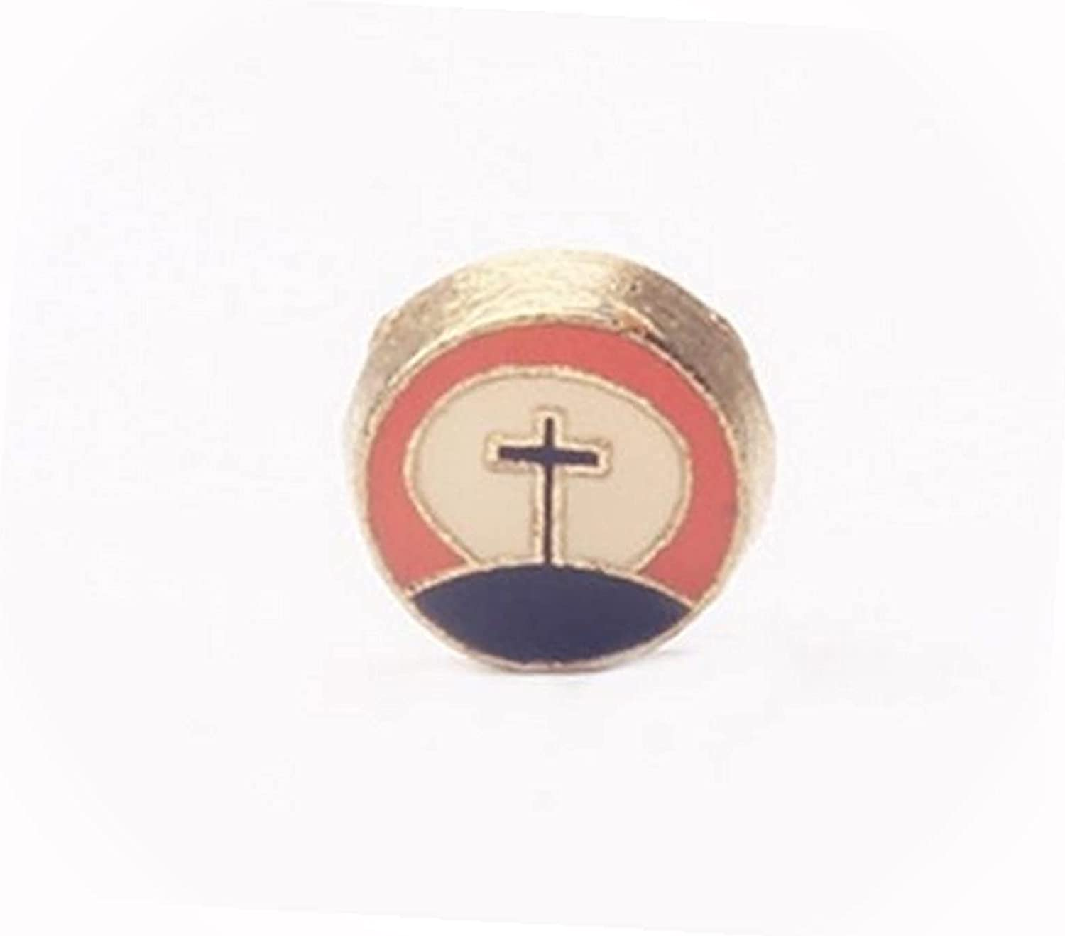 New Cross ON A Hill Enamel Gold Floating 8mm SALENEW very popular Religious for Spring new work one after another Charm