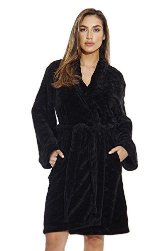 Just Love Kimono Robe Bath Robes for Women 6311-Black-1X
