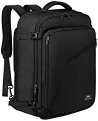 EXPANDABLE and LARGE CAPACITY: Extra large backpack with expandable feature give you more packing capacity. Unzip to expand 40L storage can easily hold packing cubes, toiletry bag, make-up bag, outfits, camera bag and gear, snacks, etc. Standard carr...
