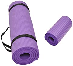 """Comes with a regular mat and a knee pad. Regular mat measures 71"""" Long 24"""" Wide, 1/2"""" Thick, ensures comfort for people of all shapes and sizes. Knee pad measures 24"""" Wide 10"""" Long, 3/5"""" Thick With double sided non-slip surfaces, Balance From all-pur..."""