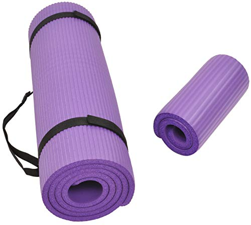 Balance From Go Yoga+ All-Purpose 1/2-Inch Extra Thick High Density Anti-Tear Exercise...