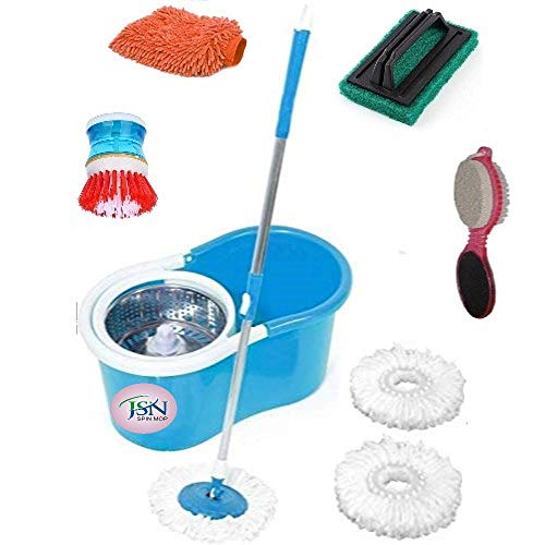 JSN Classic Magic Cleaning Spin Bucket Mop for Floor &...