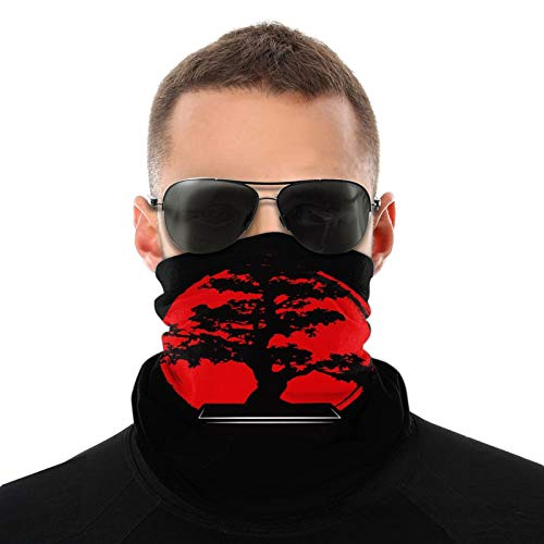 Cool Bonsai Tree Headwear Bandana Windproof Headwrap Unisex Balaclava Sun Uv Face Scarf for Dust White