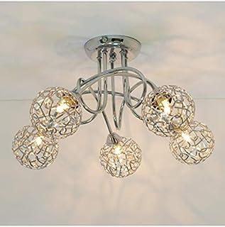 KOSILUM - Plafonnier design 5 boules Aphyse - Lumière Blanc Chaud Eclairage Salon Chambre Cuisine Couloir - 5 x 25W - - G9...