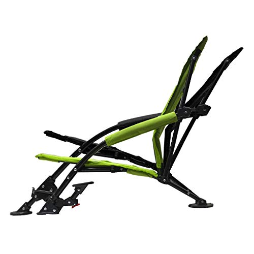 STRONGBACK Low Gravity Beach Chair Heavy Duty Portable Camping and Lounge Travel Outdoor Seat with Built-in Lumbar Support, Lime Green, Recliner