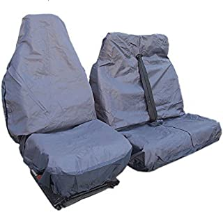 flexzon Heavy Duty Slip On Waterproof Seat Covers Protectors For VW Transporter T4 1992-2003