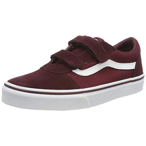 Vans Ward V-Velcro, Sneaker, Rosso ((Suede/Canvas) Port Royale/White U1a), 33/34 EU