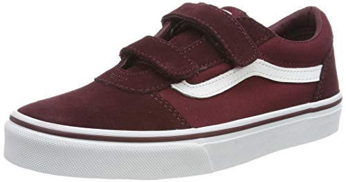 Vans Ward V-Velcro Sneaker, Rot ((Suede/Canvas) Port Royale/White U1a), 39 EU