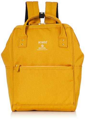 Anello Grande GU-B3014 Sports Series Lightweight Water Repellent Heather Poly Base Backpack SMALL (A4 Size) 5 Pockets (Mustard)