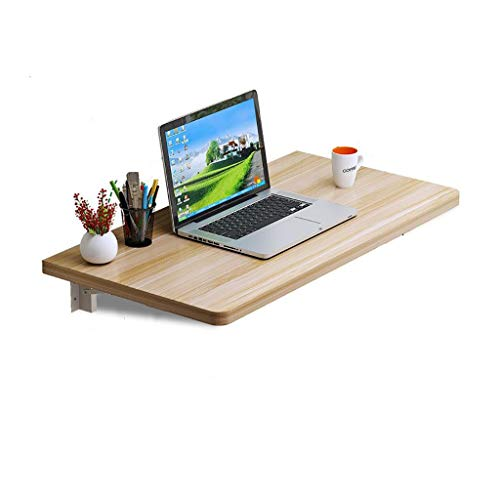 TLMYDD Mesa de Cocina de Pared de Nogal con luz Plegable con Soporte Mesa de Ordenador sin Pintura Mesa (Size : 110x40cm)