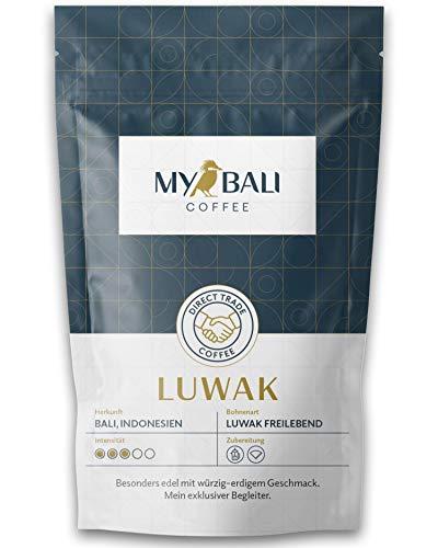 MYBALI COFFEE Kopi Luwak Ganze Kaffeebohnen Aus Indonesien - Perfektes Kaffee Geschenk - Von Frei Lebenden Luwak Schleichkatzen (Luwak (100g))