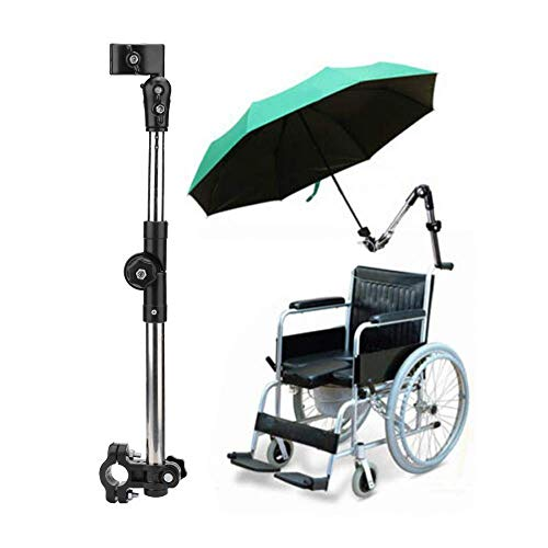 Cubierta universal para sombrilla eléctrica para motocicleta, soporte ajustable para sombrilla al aire libre, soporte para conector de paraguas, para sillas de ruedas, andador, andador, bicicleta, c