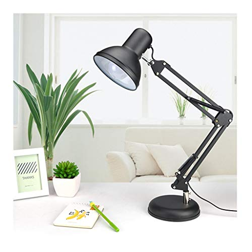 Lampe de bureau Office Eye Caring LED Réglable Table Light Adult Enfants Travailler Lire Des Lampes Ligne Switch Switch Métal Noir