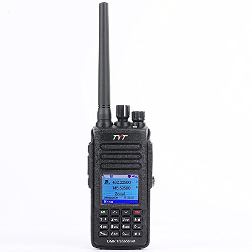 TYT MD-UV390 Dual Band VHF UHF DMR Radio W/GPS Waterproof Dustproof IP67 Walkie Talkie w/Free Cable