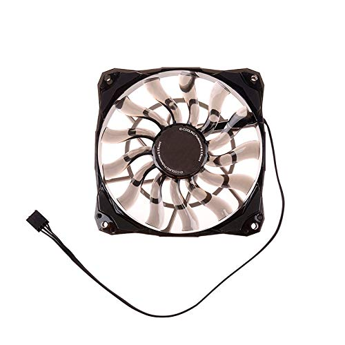 1PC Best for Small Case, Slim 15mm Thickness Big Airflow of 53.6CFM 120mm PWM Controlled Fan with De-Vibration Rubber