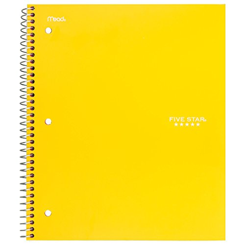 """Five Star Spiral Notebooks, 3 Subject, Wide Ruled Paper, 150 Sheets, 10-1/2"""" x 8"""", Assorted Colors, 6 Pack (73449) Photo #6"""