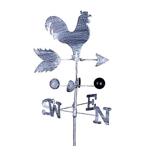 Eillybird Wetterfahne Wetterhahn Metall Eisen 120 cm Vintage Rooster Wetterfahne Windgeschwindigkeit Spinner Richtungsanzeiger Garten Ornament Dekoration Patio Hof