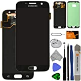 LCD & Digitizer Assembly for Samsung Galaxy S7 (Black Onyx) (OEM) with Tool Kit