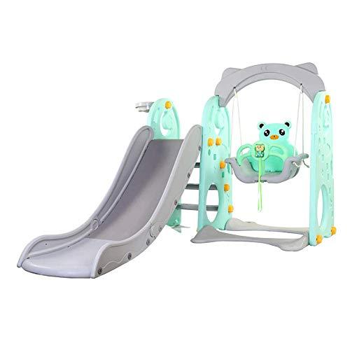 Slide Infantil Marco Interior de Hogares de Propósitos Múltiples de Diapositivas Swing de Baloncesto de Tres-en-uno combinación Juguete, jardín al Aire Libre Zona de Juegos de Diapositivas WTZ012