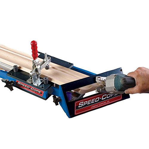 Rockler Speed-Cope Crown Molding Jig - Speed-Cope Requires Power Jig Saw for Use – Adjust Handle Crown Molding Tool up to 7-1/4