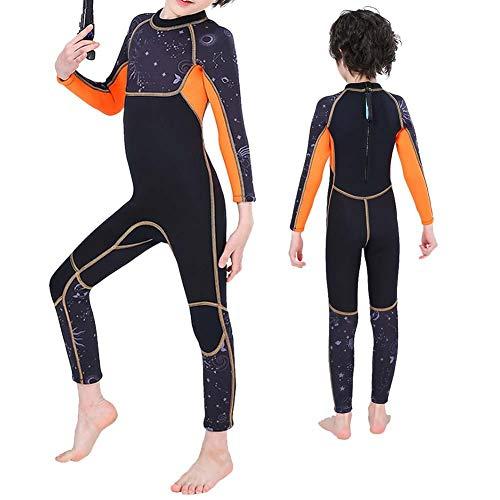 Chanme Traje de Buceo para niños, Traje de Neopreno cálido para niños Mejor Aislamiento para niños para Deportes acuáticos y Actividades subacuáticas(XL)