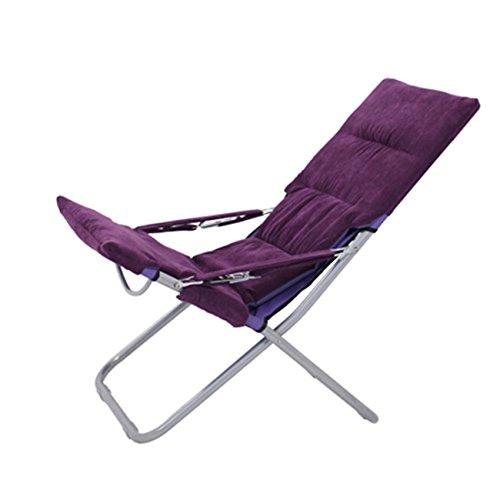 Accueil Extérieur Chaises longues Chaise longue Chaises pliantes Pause déjeuner Chaises Fauteuil Chaise longue Chaise de plage (Couleur : A)