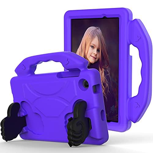 AHUOZ Funda para tablet Samsung Galaxy Tab E 7.0 '' T113 Tablet Case para niños a prueba de golpes, ligera, EVA a prueba de golpes, resistencia al impacto, mango protector (color: purper)