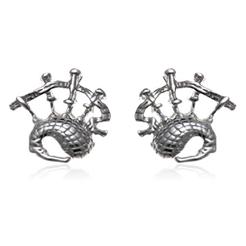 Silberner Dudelsack - schottische Ohrringe