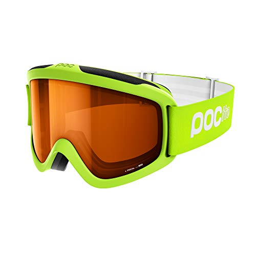 POC POCito Iris Ski Brille, Fluorescent Yellow/Green, ONE Size