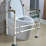 IXQ Kohlenstoffstahl WC-Aufstehhilfe Toilettenstützgestell Höhe Und Breite Einstellbar Toiletten Sicherheitsgestell Geeignet Für ältere Menschen, Behinderte WC-Sicherheitsrahmen -