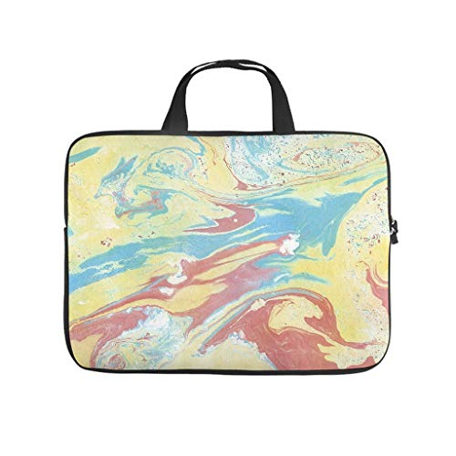 Neoprene Marble Texture Laptop Tote Bag Laptop Bag Case -Modern Style for Notebook White 12 Zoll