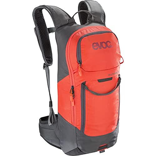 EVOC Sports GmbH FR Lite Race - Zaino protettivo in carbonio, Unisex - Adulto, Zaino protettivo., 100115125-M/L, grigio carbonio/arancione., M / L