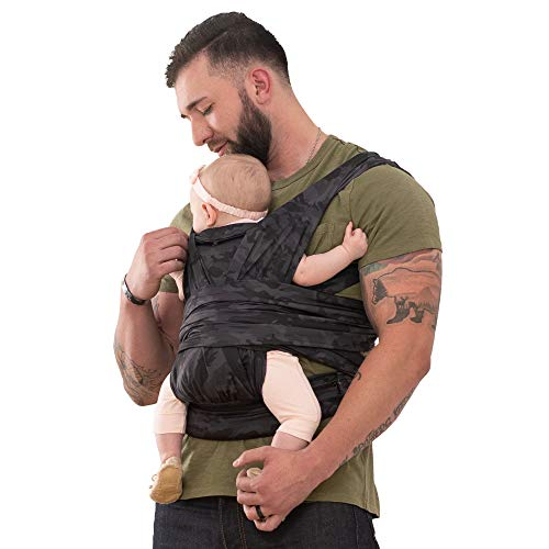 Boppy ComfyFit Hybrid Baby Carrier, Black/Gray Camo