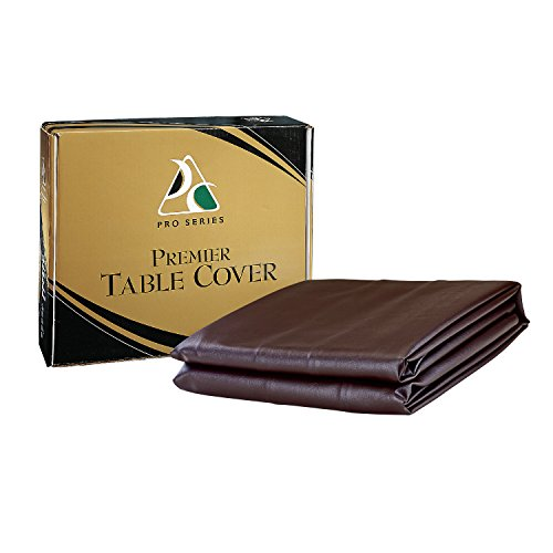 Pro Series TC8.5DB Premier Leatherette Pool Table Cover, Dark Brown, 8.5-Feet