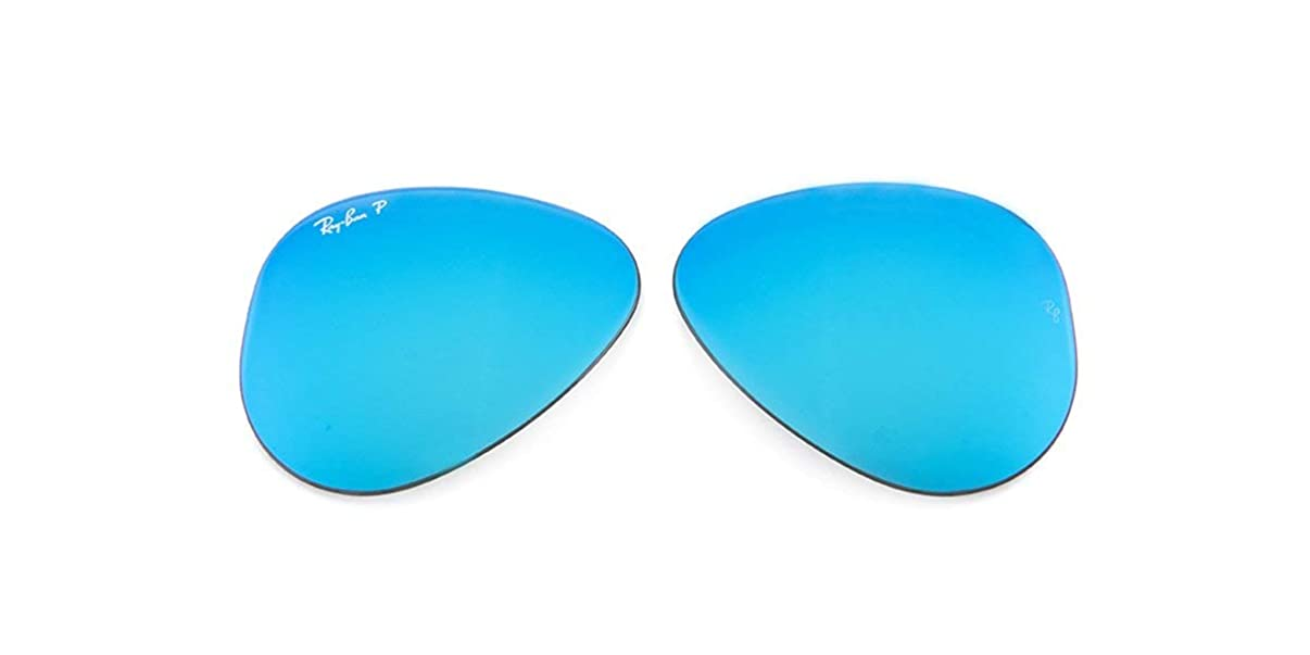Original Ray-Ban replacement lenses for RB3025 Aviator Large Polarized Flash Blue