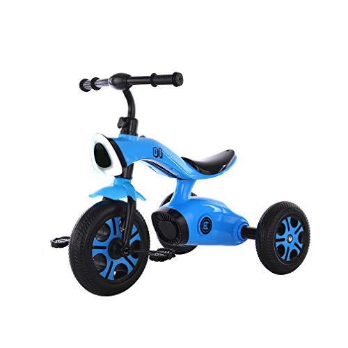 CNAJOI-TDFY Triciclo Musical para niños con Rueda Trasera Desmontable, triciclos Deportivos para niños, Pedales con Altavoces de música, Juguetes para niños de 3 a 6 años de Edad