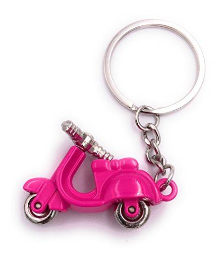 H-Customs Motorroller Roller pink Anhänger Schlüsselanhänger