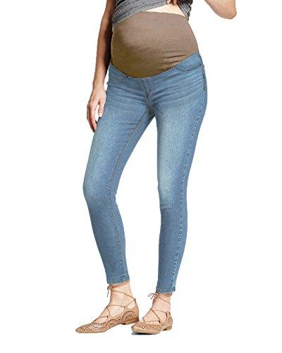 Hybrid & Company Jeans Premaman Skinny Super Comodi Elasticizzati per Donne X-Grande Light blu2