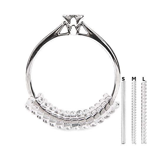Vancool (18-pack)Anillo reductores Tamaño Ajustador (1.5mm/2mm/3mm), con el paño de pulido del anillo, perfecto para los anillos flojos